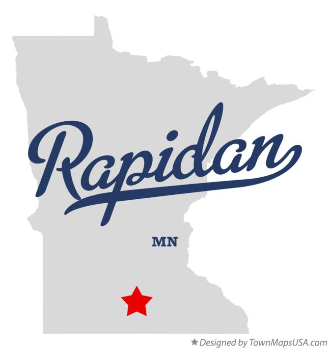 Map of Rapidan Minnesota MN