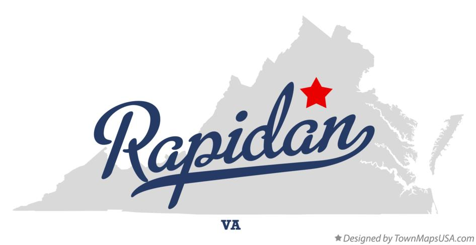 Map of Rapidan Virginia VA
