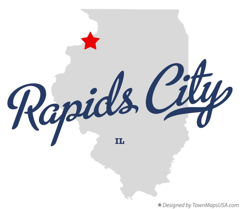 Map of Rapids City Illinois IL