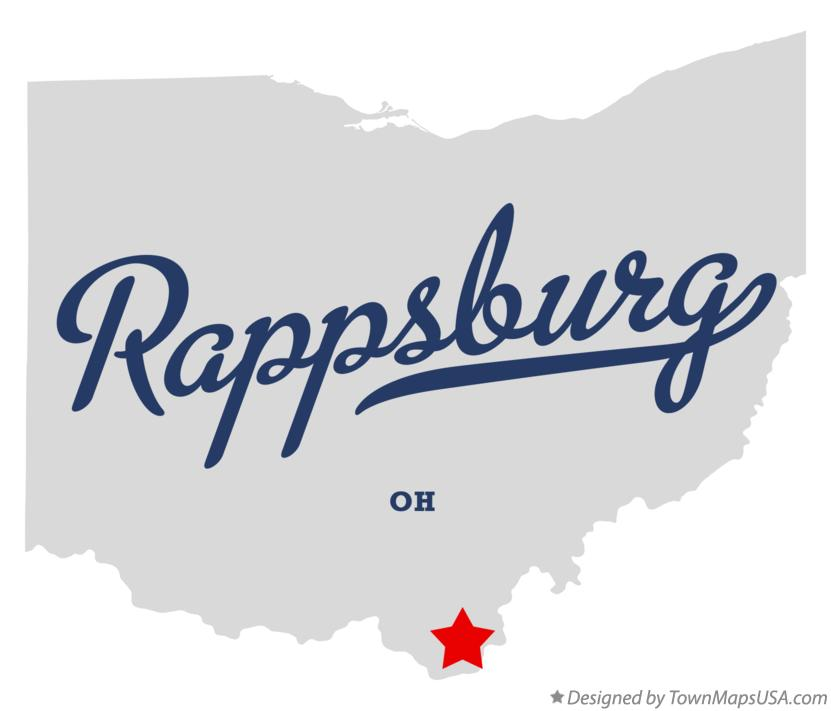 Map of Rappsburg Ohio OH