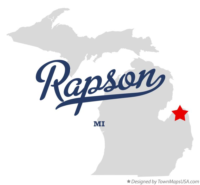 Map of Rapson Michigan MI