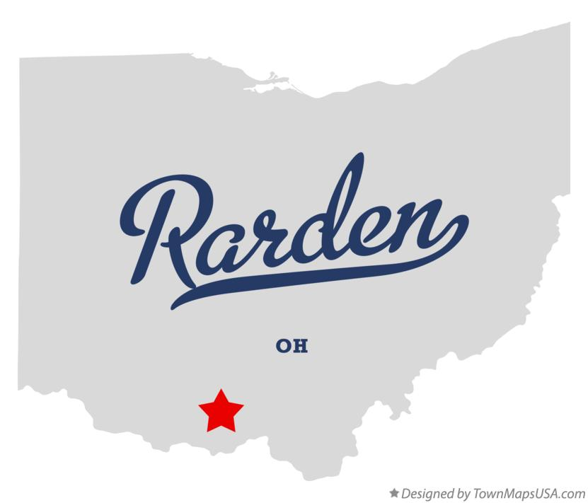 Map of Rarden Ohio OH