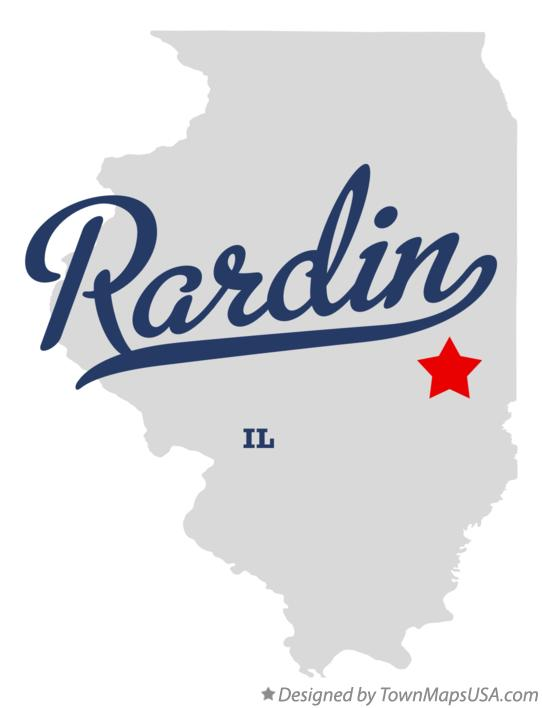 Map of Rardin Illinois IL