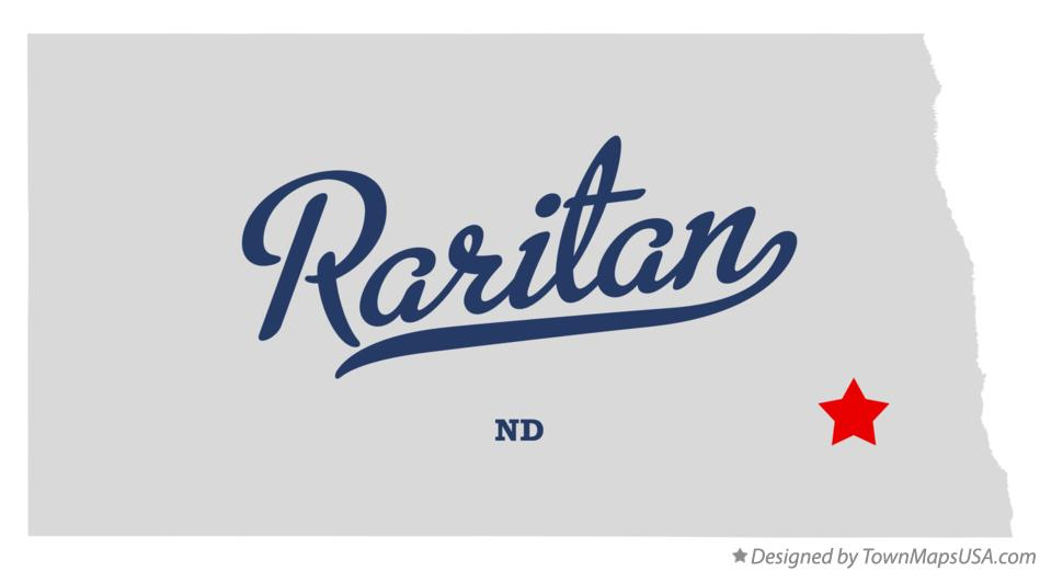 Map of Raritan North Dakota ND