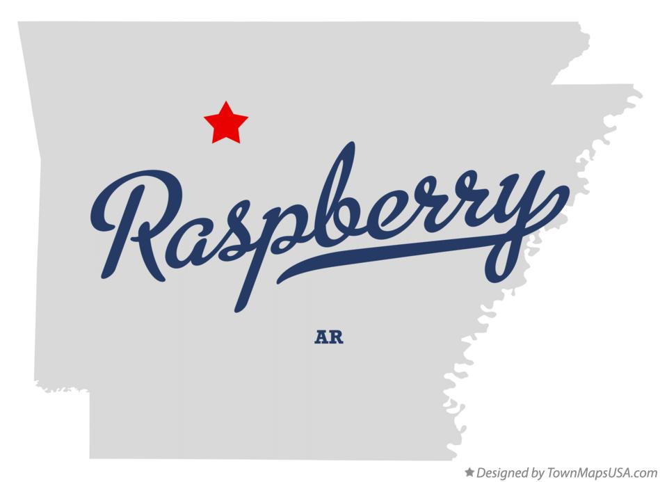 Map of Raspberry Arkansas AR