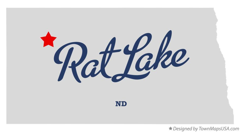 Map of Rat Lake North Dakota ND