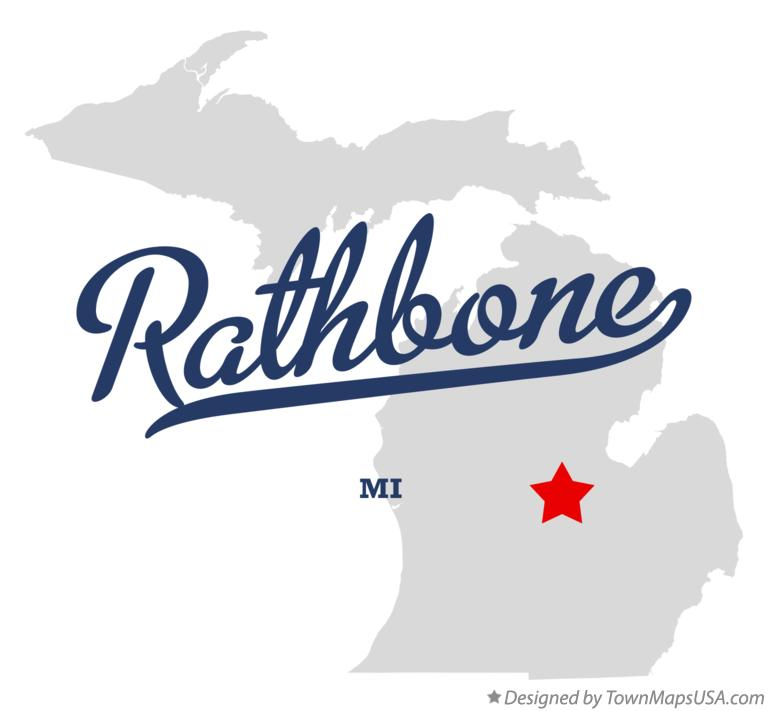 Map of Rathbone Michigan MI