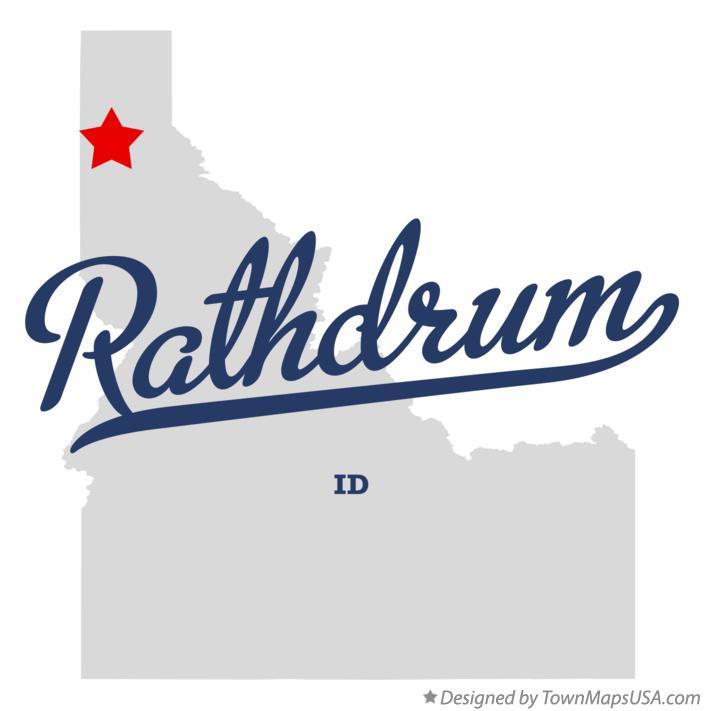 Map of Rathdrum, ID, Idaho