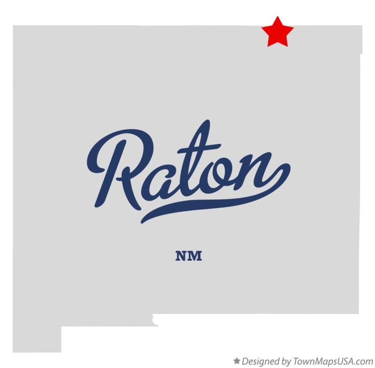 Map of Raton New Mexico NM