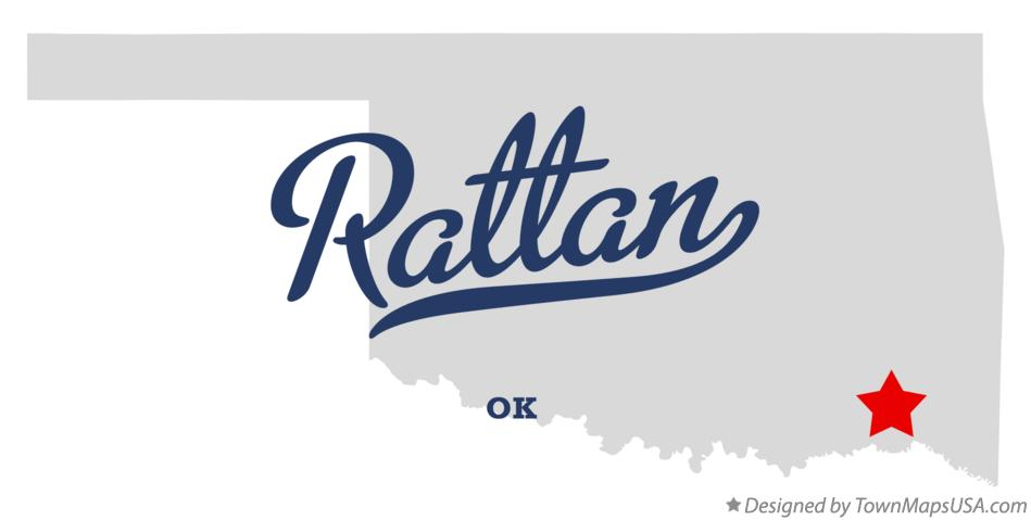 Map of Rattan Oklahoma OK
