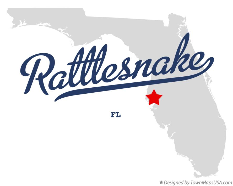 Map of Rattlesnake Florida FL