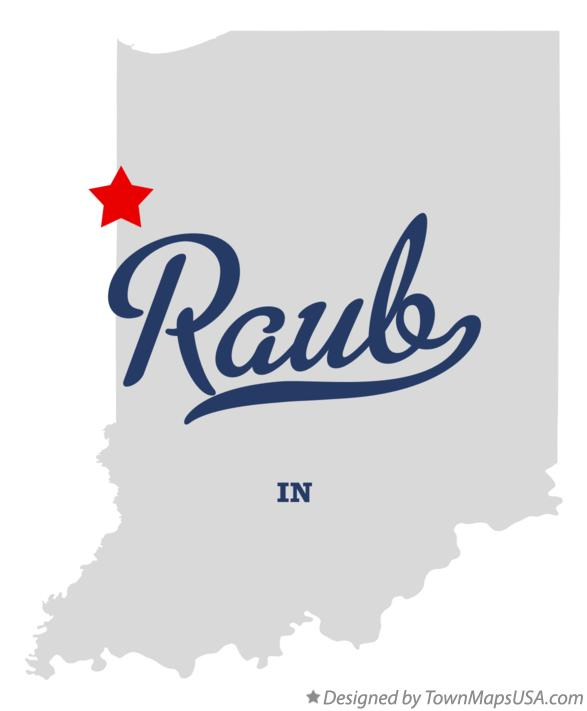 Map of Raub Indiana IN