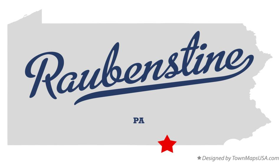 Map of Raubenstine Pennsylvania PA