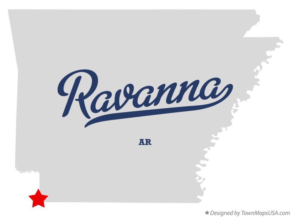 Map of Ravanna Arkansas AR
