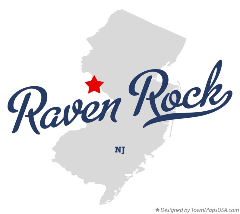 Map of Raven Rock New Jersey NJ
