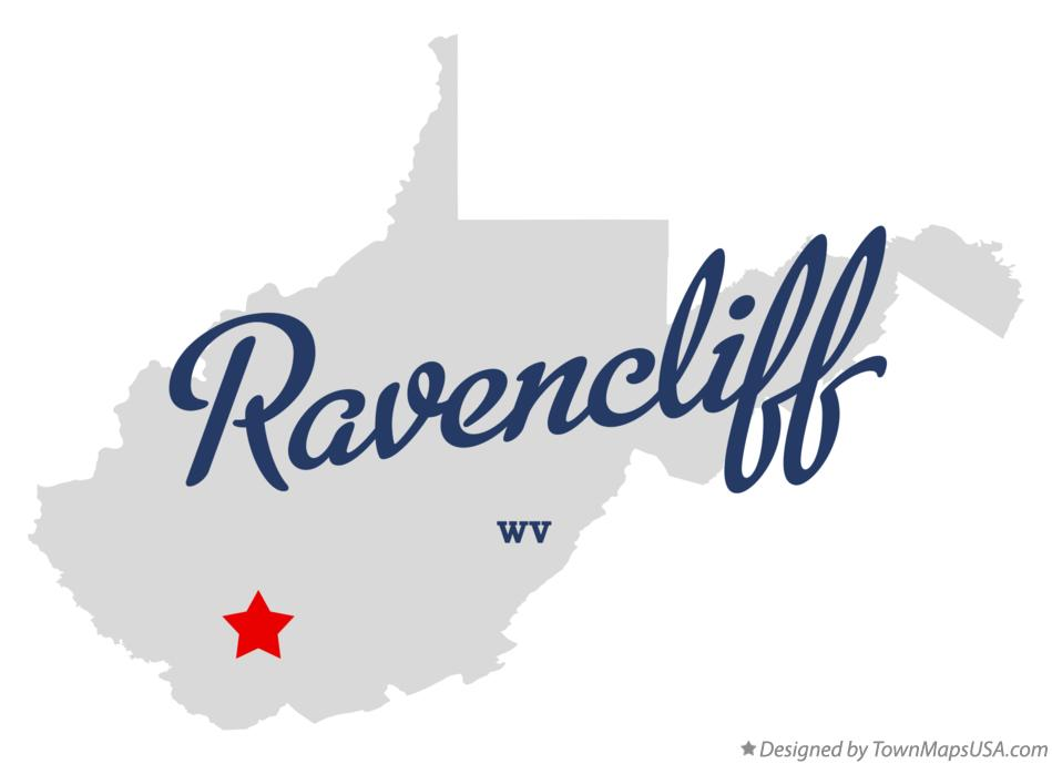 Map of Ravencliff West Virginia WV
