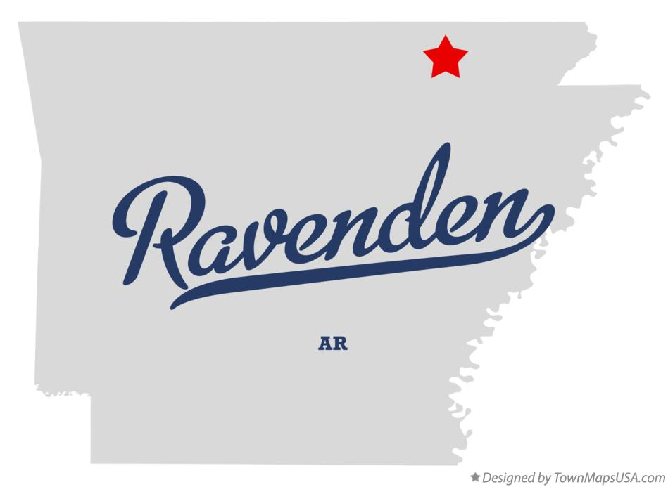 Map of Ravenden Arkansas AR