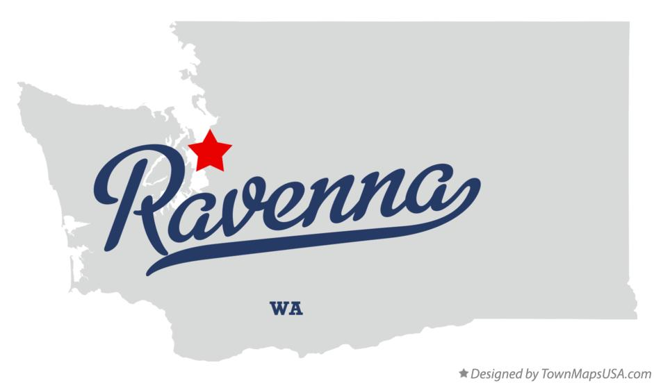 Map of Ravenna Washington WA