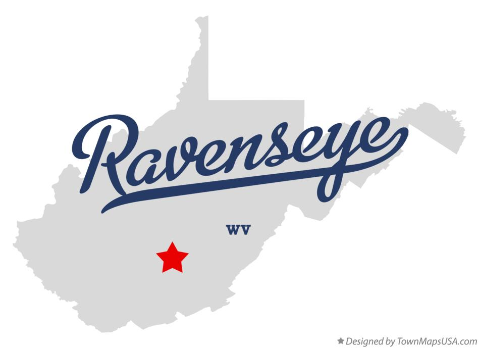 Map of Ravenseye West Virginia WV