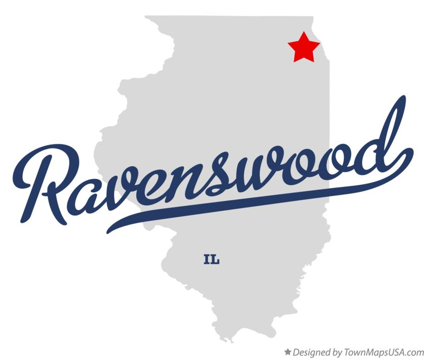 Map of Ravenswood Illinois IL