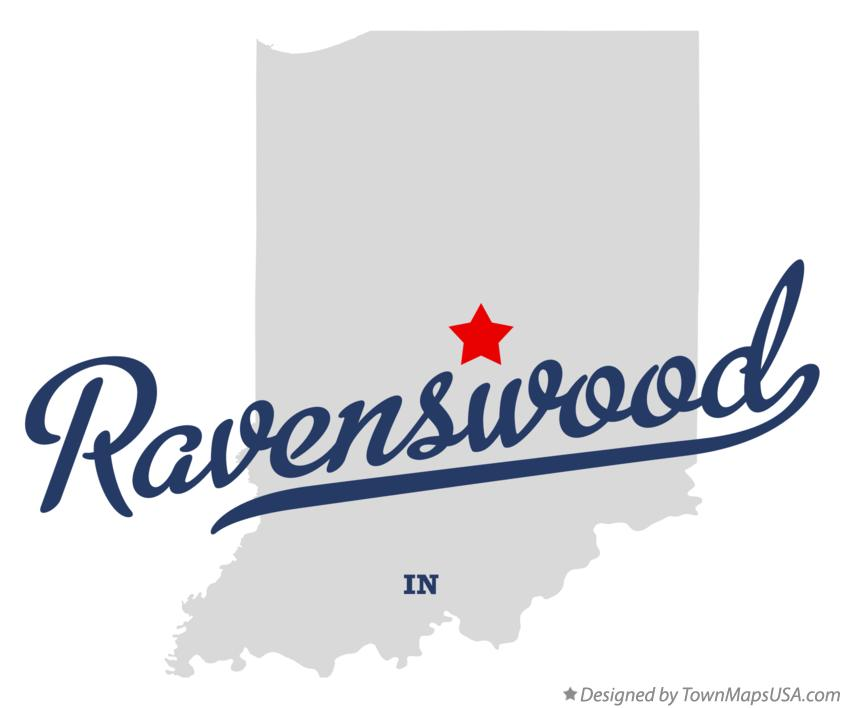 Map of Ravenswood Indiana IN