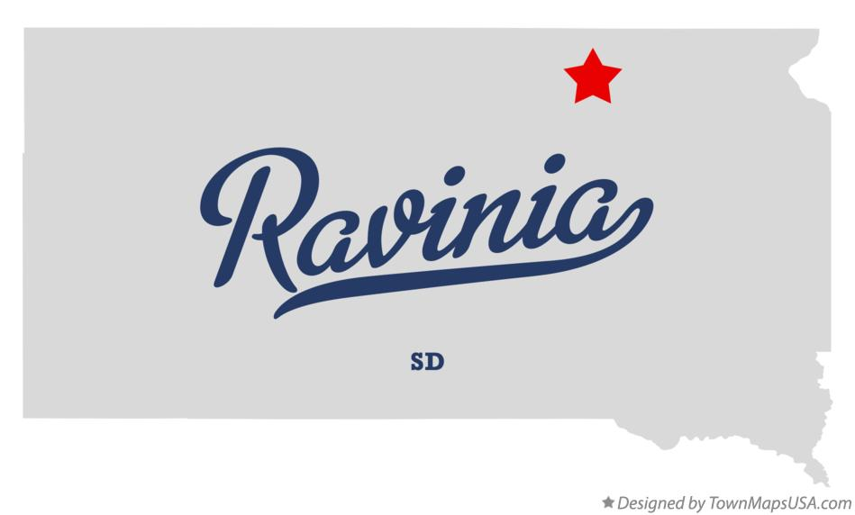 Map of Ravinia South Dakota SD