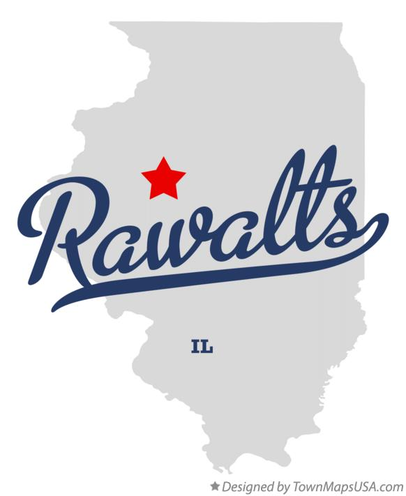 Map of Rawalts Illinois IL