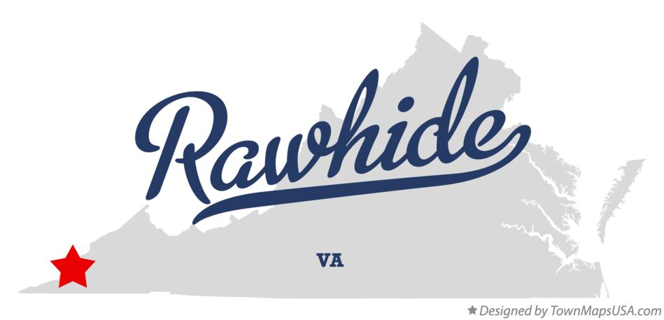 Map of Rawhide Virginia VA