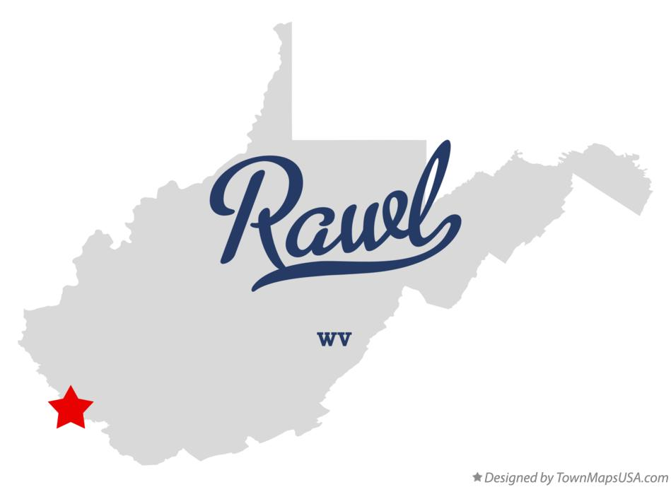 Map of Rawl West Virginia WV