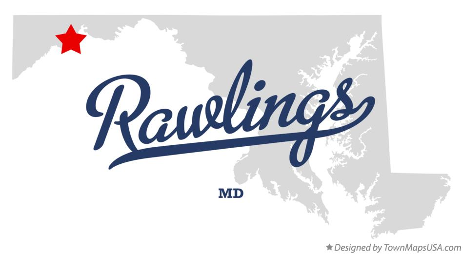 Map of Rawlings Maryland MD
