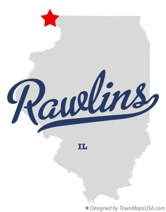 Map of Rawlins Illinois IL
