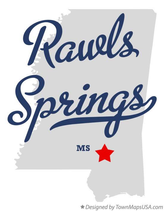 Map of Rawls Springs Mississippi MS