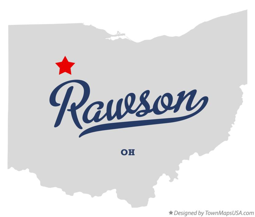 Map of Rawson Ohio OH