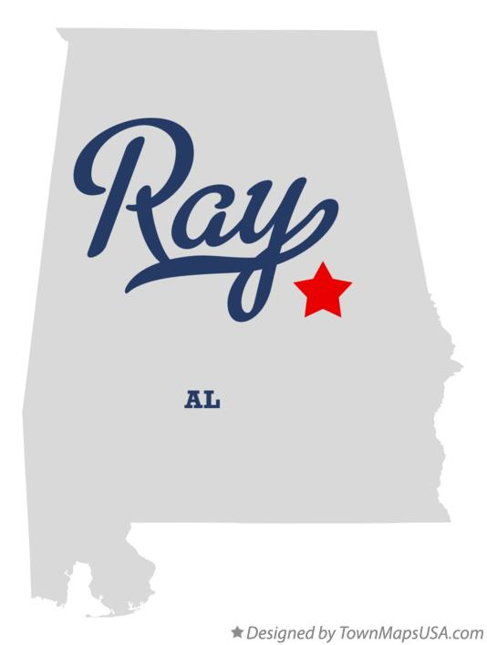 Map of Ray Alabama AL