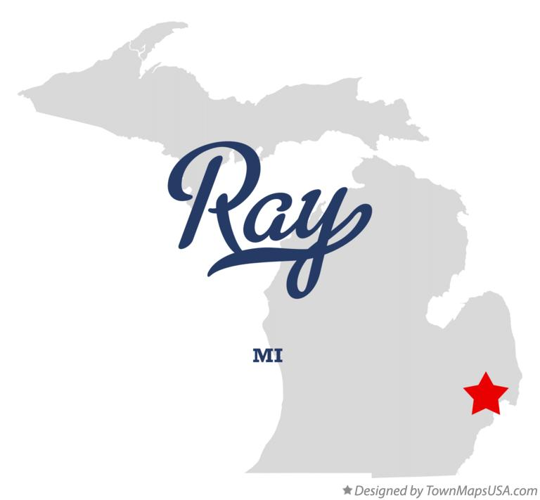 Map of Ray Michigan MI
