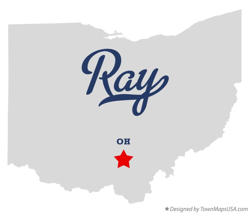 Map of Ray Ohio OH