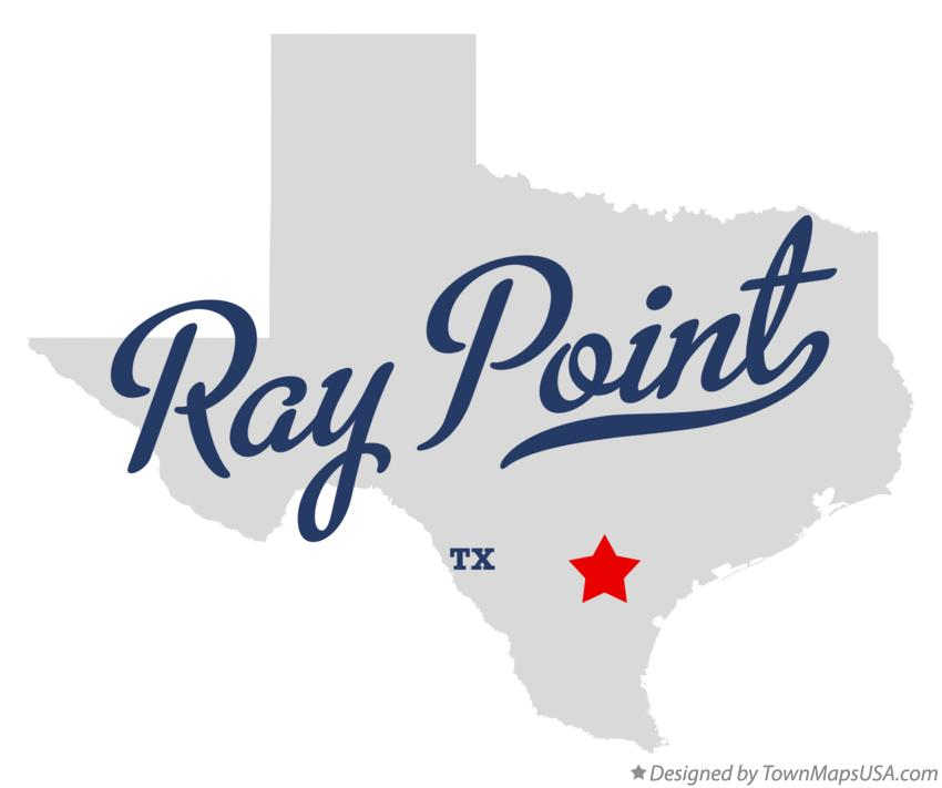 Map of Ray Point Texas TX