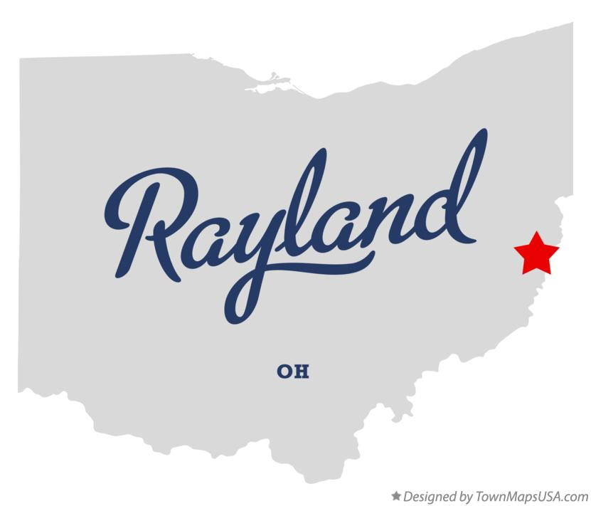 Map of Rayland Ohio OH