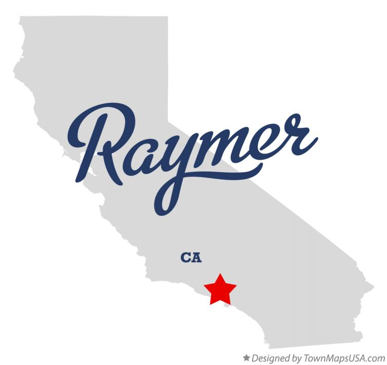 Map of Raymer California CA