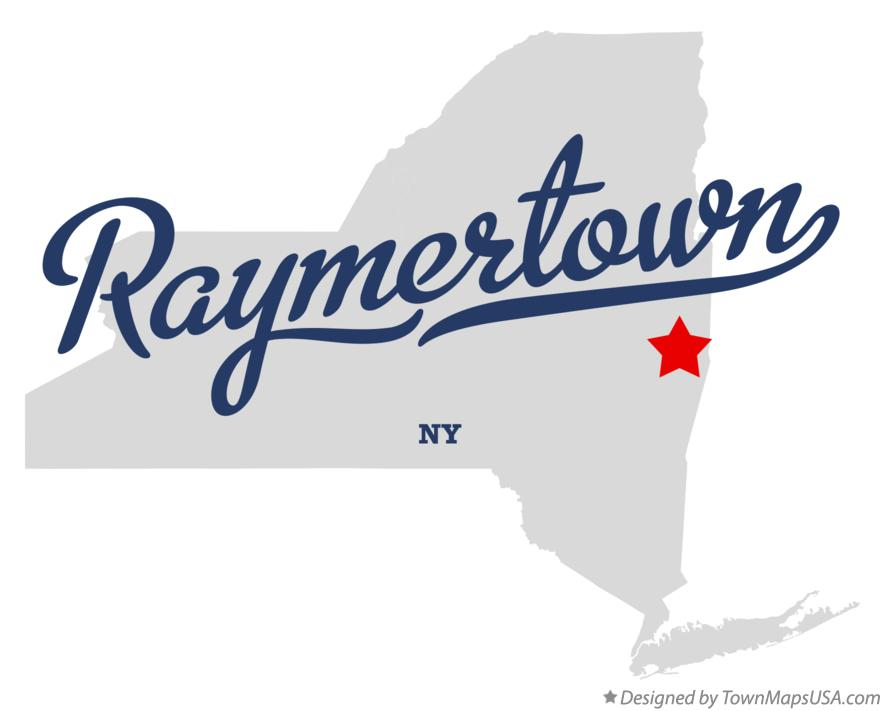 Map of Raymertown New York NY