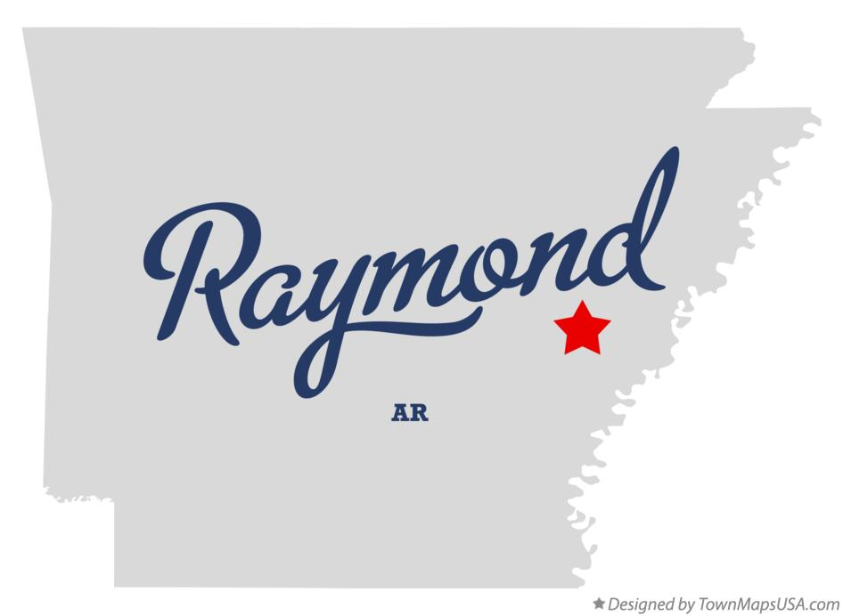 Map of Raymond Arkansas AR