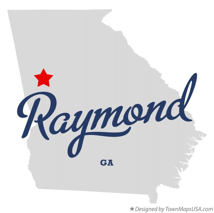 Map of Raymond Georgia GA