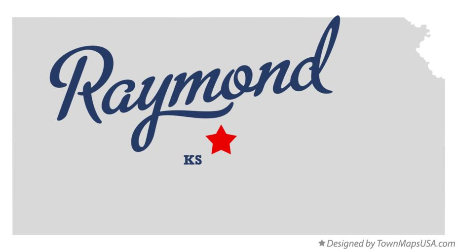 Map of Raymond Kansas KS