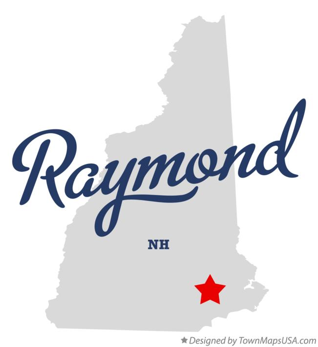 Map of Raymond New Hampshire NH