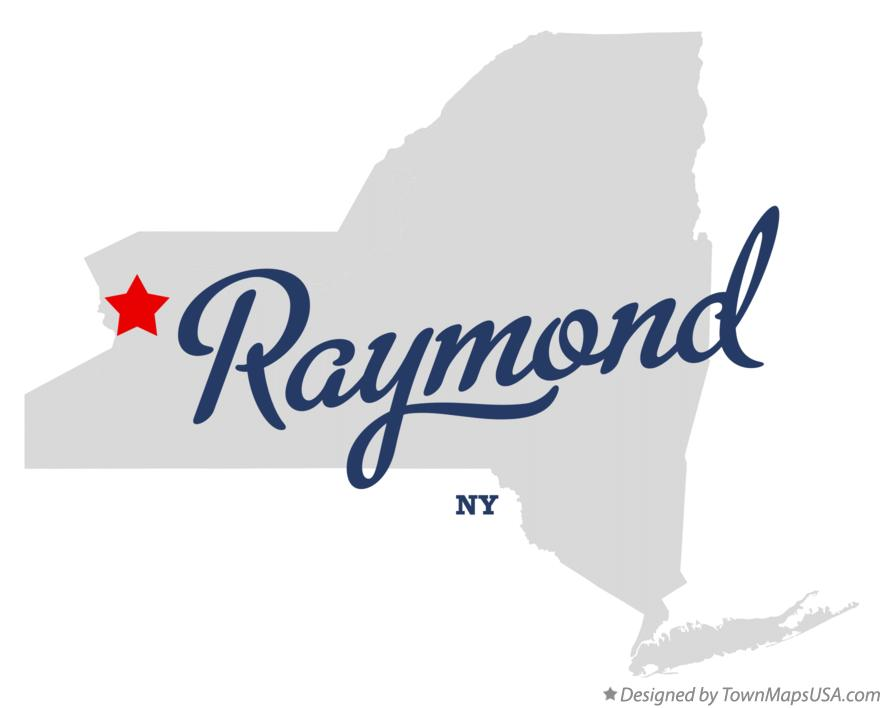 Map of Raymond New York NY