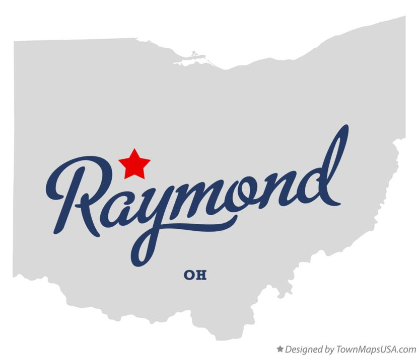 Map of Raymond Ohio OH