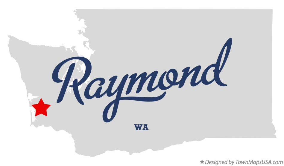 Map of Raymond Washington WA