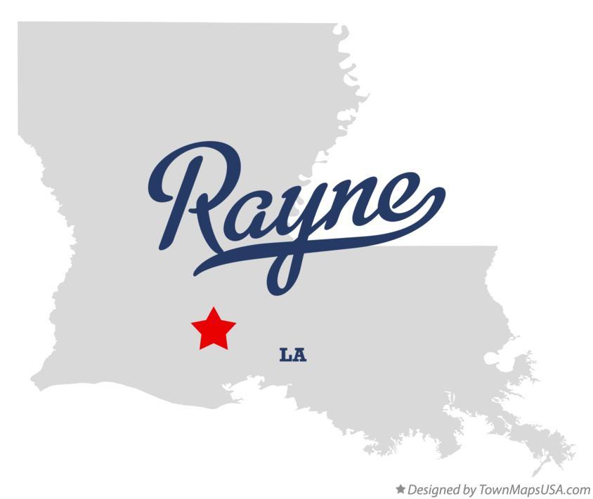 Map Of Rayne La Louisiana
