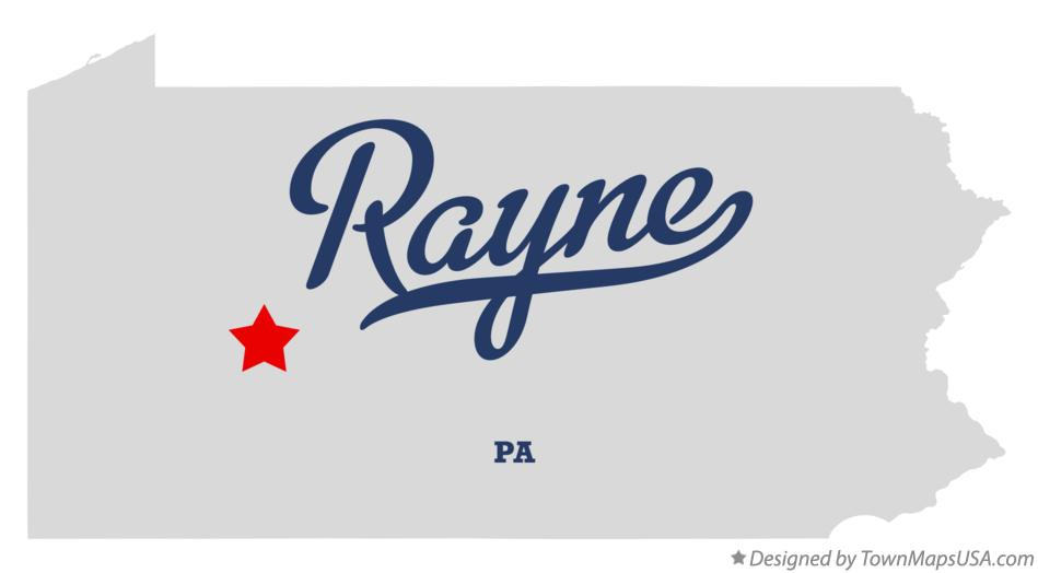 Map of Rayne Pennsylvania PA