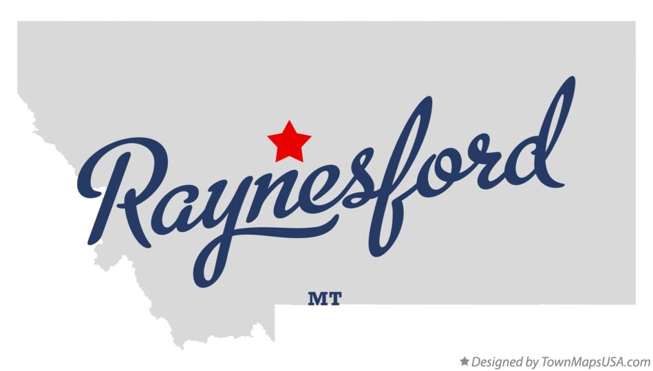 Map of Raynesford Montana MT